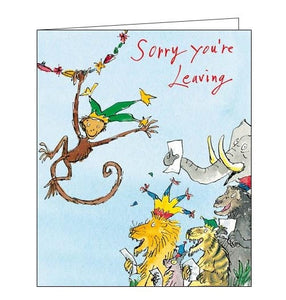 Woodmansterne Quentin Blake Sorry you're leaving card Nickery Nook