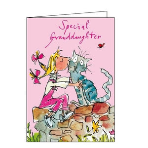 Woodmansterne Quentin Blake Special Granddaughter Happy Birthday card Nickery Nook