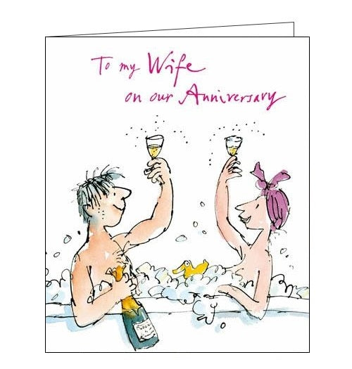 Woodmansterne Quentin Blake To my Wife on our anniversary card Nickery Nook