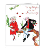 Woodmansterne Quentin Blake To my Wife on our anniversary card Nickery Nook tree