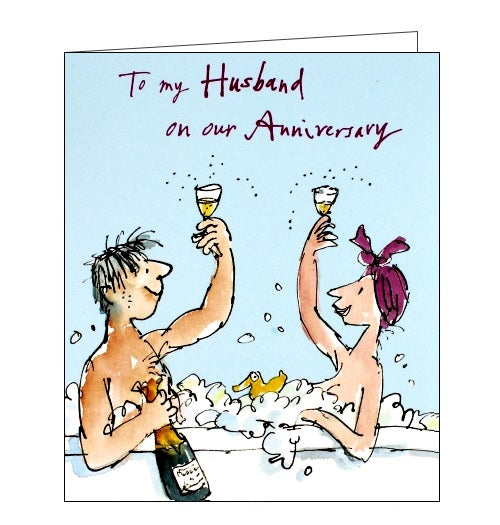 Woodmansterne Quentin Blake To my husband on our anniversary card Nickery Nook