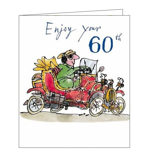 Woodmansterne Quentin Blake classic car enjoy your 60th birthday card Nickery Nook