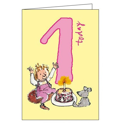 Woodmansterne Quentin Blake first 1 today 1st birthday card Nickery Nook