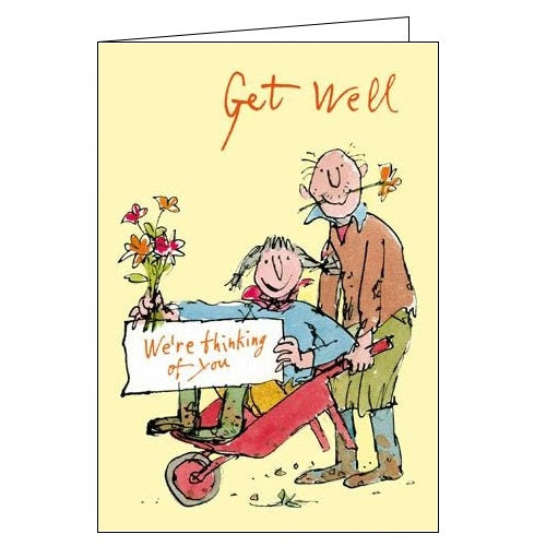Woodmansterne Quentin Blake get well soon we're thinking of you card Nickery Nook