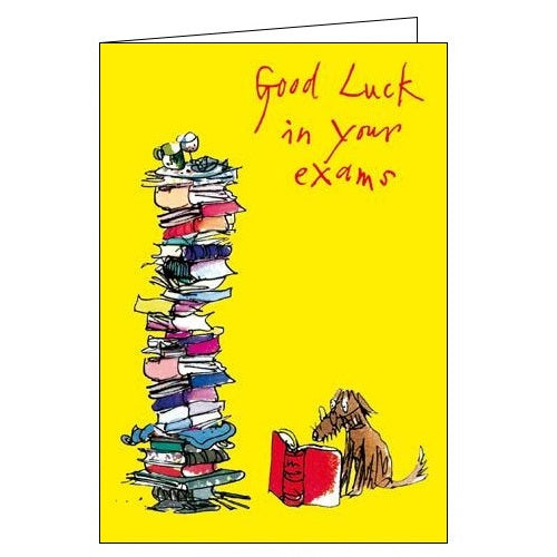 Woodmansterne Quentin Blake good luck in your exams good luck card Nickery Nook
