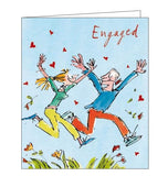Woodmansterne Quentin Blake happy engagement congratulations card Nickery Nook 297649