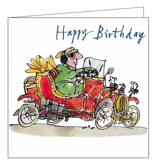 Woodmansterne Quentin Blake nice ride classic car birthday card Nickery Nook