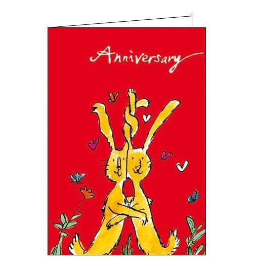 Woodmansterne Quentin Blake rabbits Anniversary card Nickery Nook