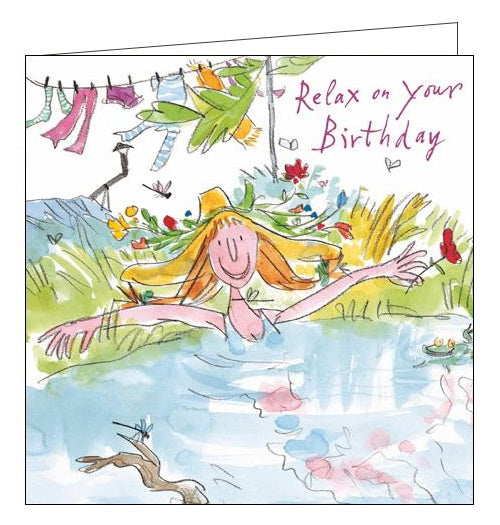 Woodmansterne Quentin Blake relax on your birthday card Nickery Nook