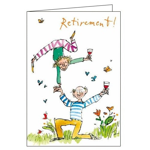 Woodmansterne Quentin Blake retirement card Nickery Nook