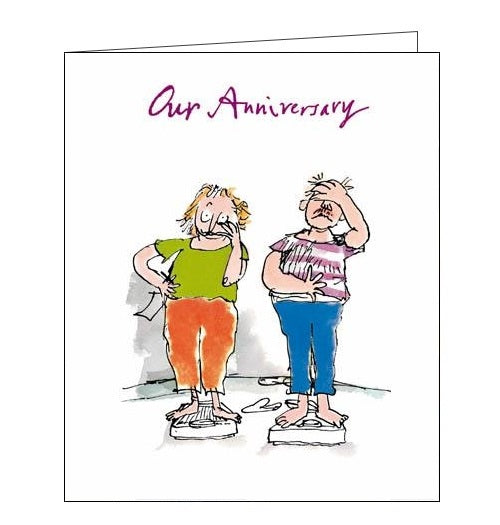 Woodmansterne Quentin Blake through thick and thin on our anniversary card Nickery Nook