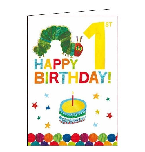 Woodmansterne The Very Hungry Caterpillar Happy 1st Birthday card Nickery Nook 1 today