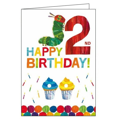 Woodmansterne The Very Hungry Caterpillar Happy 2nd Birthday card Nickery Nook