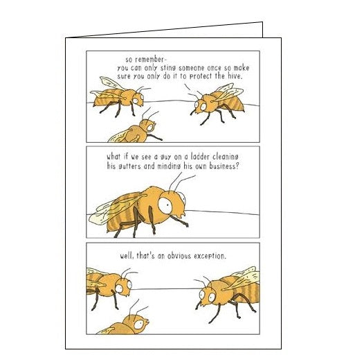 Woodmansterne They Can Talk one sting wasps humour black humour card Nickery Nook