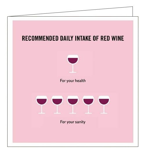 Woodmansterne Truth Facts wine humour blank card Nickery Nook