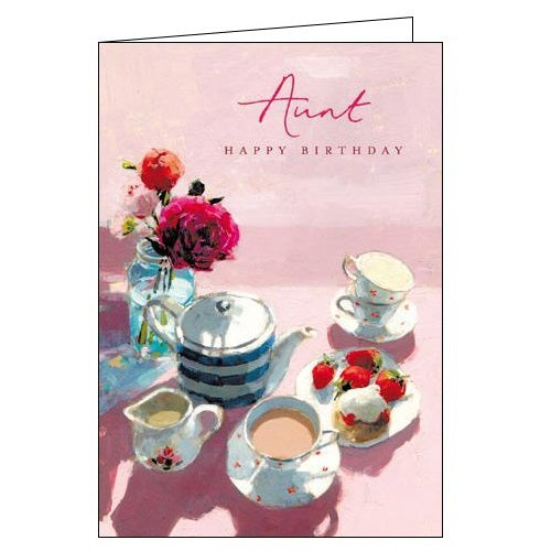 Woodmansterne Victoria Bell afternoon tea aunt Birthday card Nickery Nook