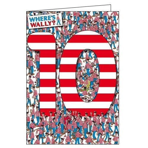 Woodmansterne Where's Wally 10 today Happy 10th Birthday Lots of Wally's Birthday card Nickery Nook