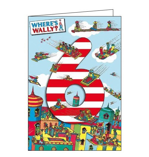 Woodmansterne Wheres Wally Happy 6th Birthday card Nickery Nook