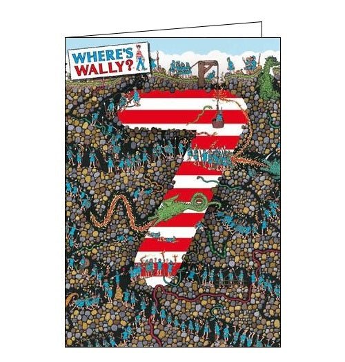 Woodmansterne Wheres Wally Happy 7th Birthday card Nickery Nook
