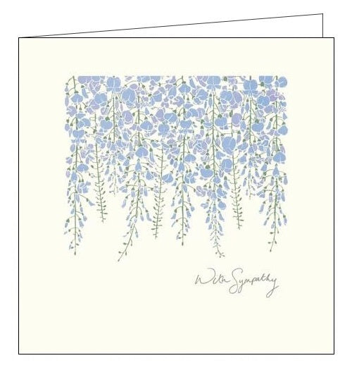 Woodmansterne Wisteria front thinking of you sympathy card Nickery Nook