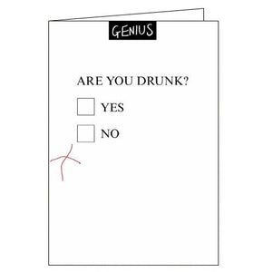 Woodmansterne are you drink alcohol humour blank card Nickery Nook