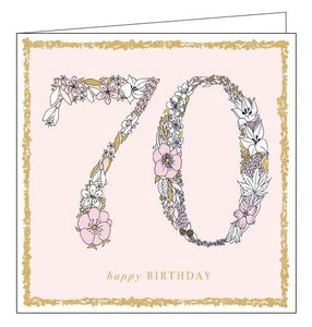 Woodmansterne charlotte mason Happy 70th birthday card Nickery Nook