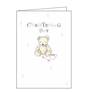 Woodmansterne congratulations teddy bear On Your Christening Day card Nickery Nook
