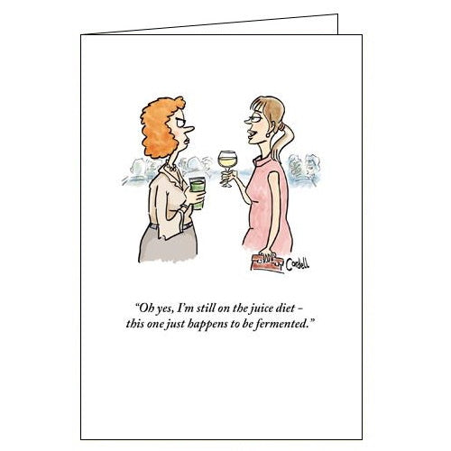 Woodmansterne cordell cartoon fermented juice diet funny blank card