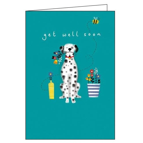 Woodmansterne dogs dalmation jennifer wren get well soon card Nickery Nook