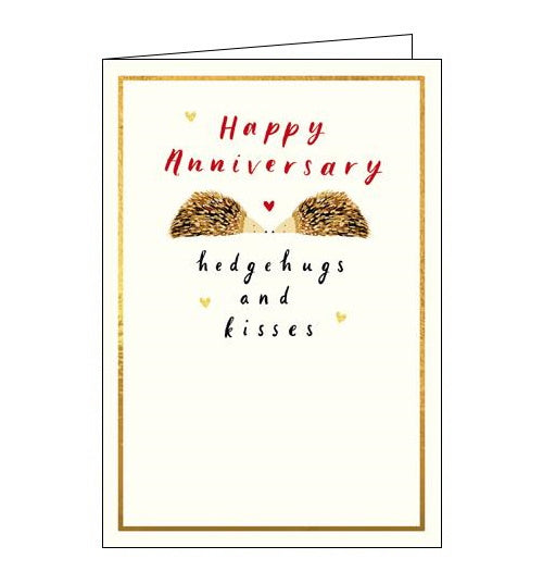 Woodmansterne emma grant hedgehugs happy anniversary card Nickery Nook