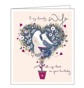 Woodmansterne emma grant to my lovely wife birthday card Nickery Nook