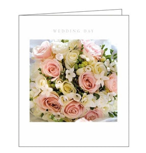 Woodmansterne framed Perfectly arranged bouquet flowers wedding congratulations card Nickery Nook