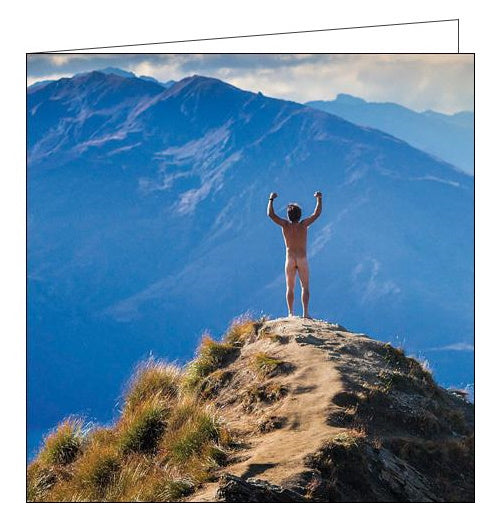Woodmansterne framed mountain climbing naked sports birthday card Nickery Nook