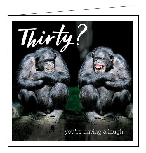 Woodmansterne funny 30th birthday card chimpanzee