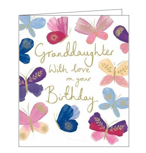 Woodmansterne granddaughter with love on your Birthday fluttering grace Happy Birthday Emma Grant card Nickery Nook