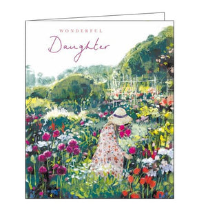 Woodmansterne happy birthday daughter victoria ball garden flowers daughter birthday card Nickery Nook
