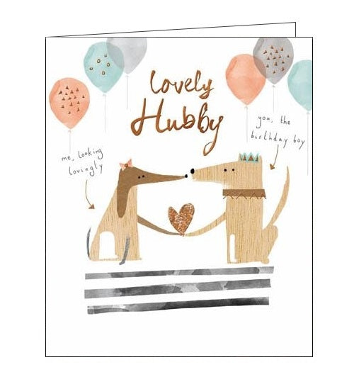 Woodmansterne hubba hubba husband birthday card Nickery Nook