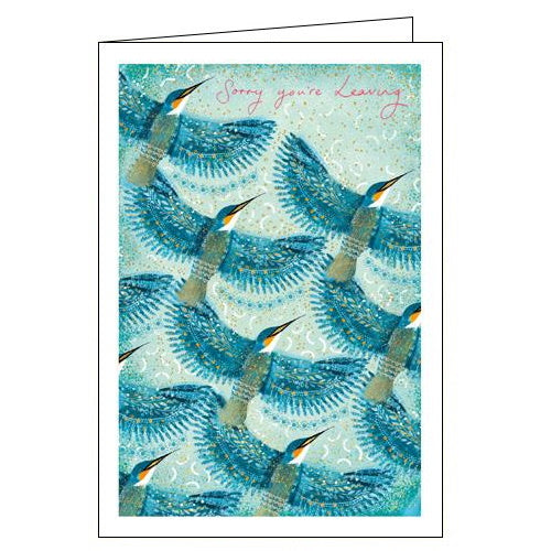 Woodmansterne kingfisher sorry you're leaving card