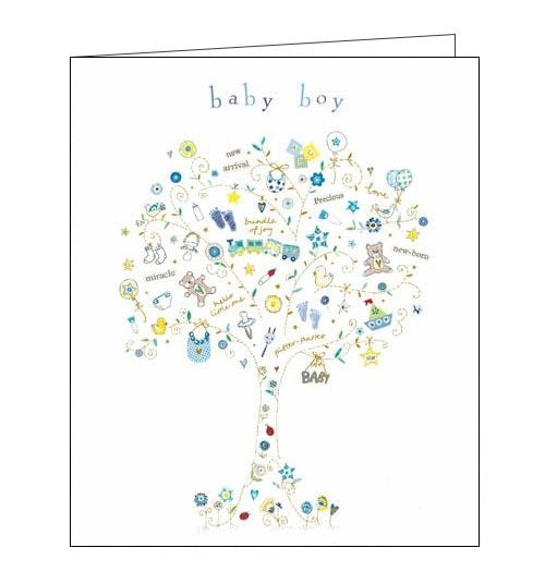 Woodmansterne little star new baby boy card Nickery Nook