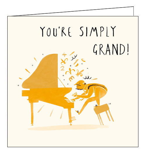 Woodmansterne livin it grand piano card Nickery Nook