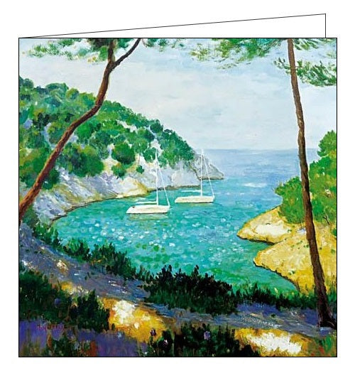 Woodmansterne marcel gatteaux getting away boats blank card Nickery Nook