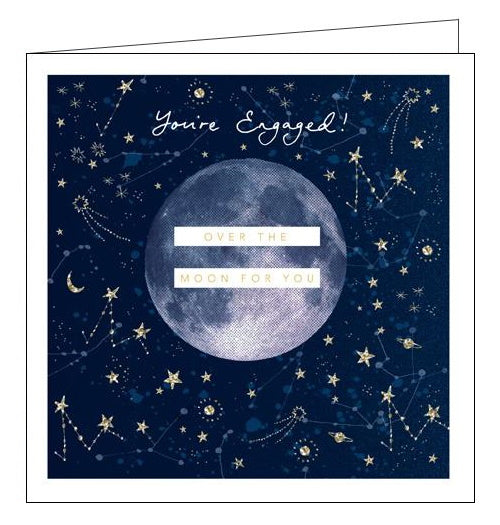 Woodmansterne over the moon engagement card
