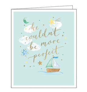 Woodmansterne perfect new baby boy card