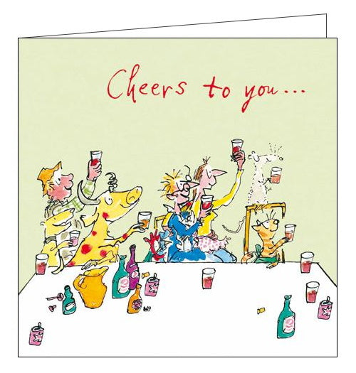 Woodmansterne quentin blake cheers to you birthday card Nickery Nook