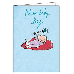 Woodmansterne quentin blake new baby boy card