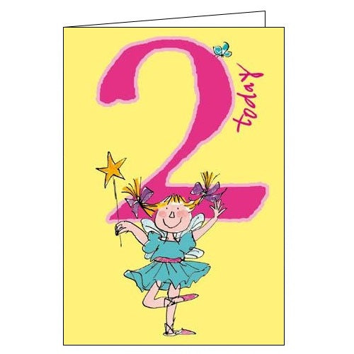 Woodmansterne quentin blake swishing wands Happy 2nd Birthday card Nickery Nook