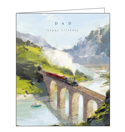Woodmansterne steam train dad birthday card Nickery Nook