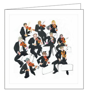 Woodmansterne strings orchestra mary woodin Millbank blank card Nickery Nook