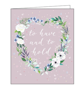 Woodmansterne to have and to hold Wedding Day card