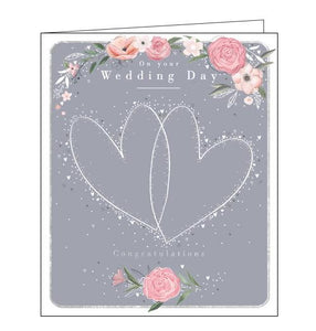 Woodmansterne two hearts Wedding Day card